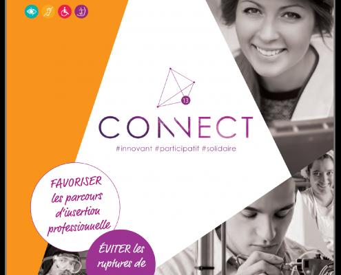 visuel plaquette de communication du service Connect13
