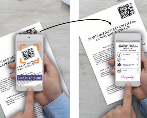 visuel détaillant les modalités d'accès à la plateforme accession en flanchant un QR-code